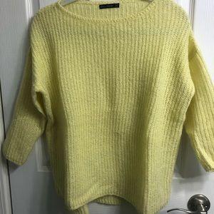 Lightweight yellow sweater, size small